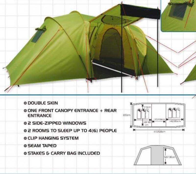 Six man tent waterproof