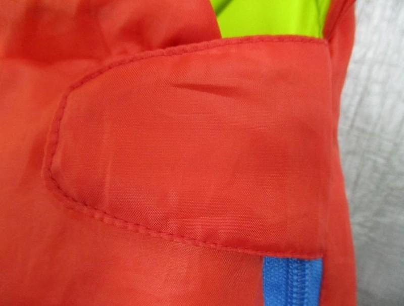 Mummy style sleeping bag zip fastener