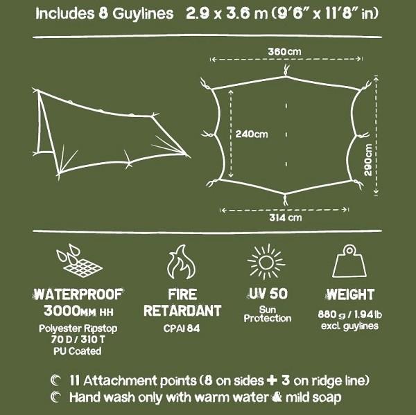 waterproof tarp for camping