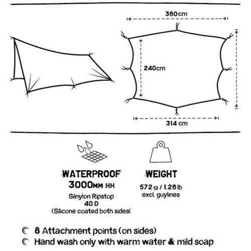 waterproof camping tarp ultralight